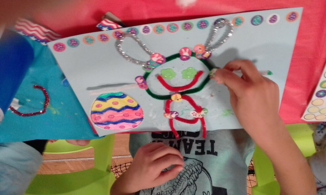School Holiday arts and craft work from session at the JD Hardie Centre