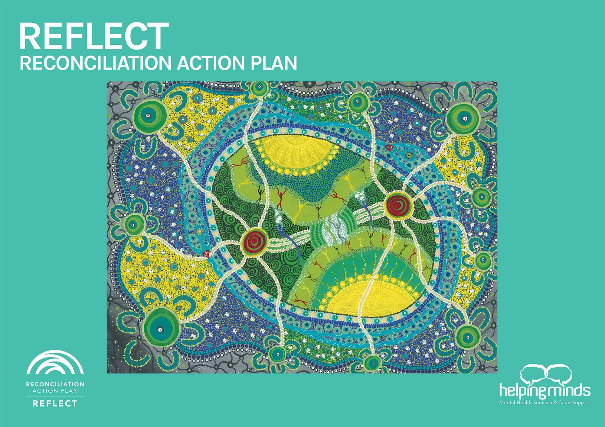 HelpingMinds® Our Reflection, Reconciliation Action Plan official artwork
